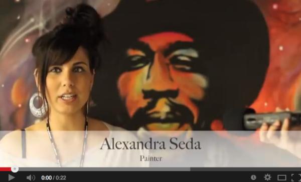 SSF 2012 Featured Artist Alexandra Seda - Jimmy Painting