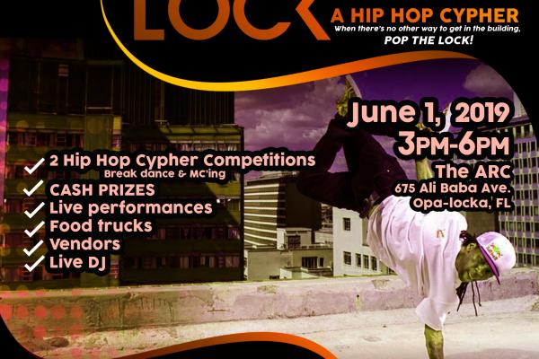 Poppin The Lock Flyer. June 1 2019